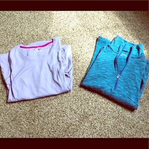 💜BUNDLE of long-sleeve workout shirts!💙